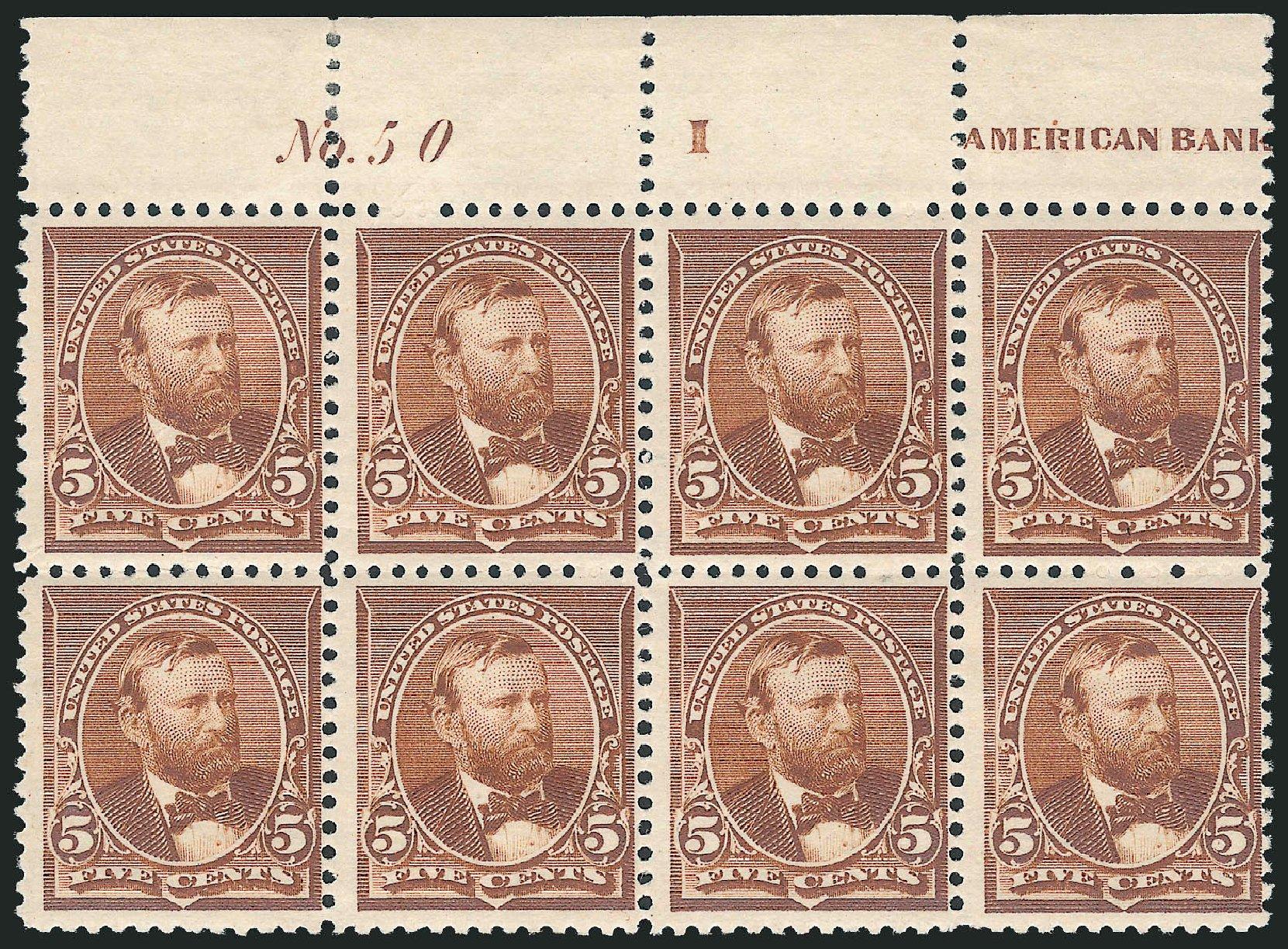 US Stamp Value Scott Catalog 223: 5c 1890 Grant. Robert Siegel Auction Galleries, Dec 2012, Sale 1037, Lot 1779