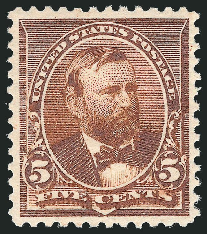 Values of US Stamp Scott Catalog # 223: 5c 1890 Grant. Robert Siegel Auction Galleries, Nov 2013, Sale 1061, Lot 3649