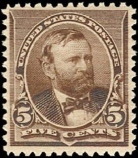 US Stamp Values Scott Catalog # 223: 1890 5c Grant. Regency-Superior, Jan 2015, Sale 109, Lot 870