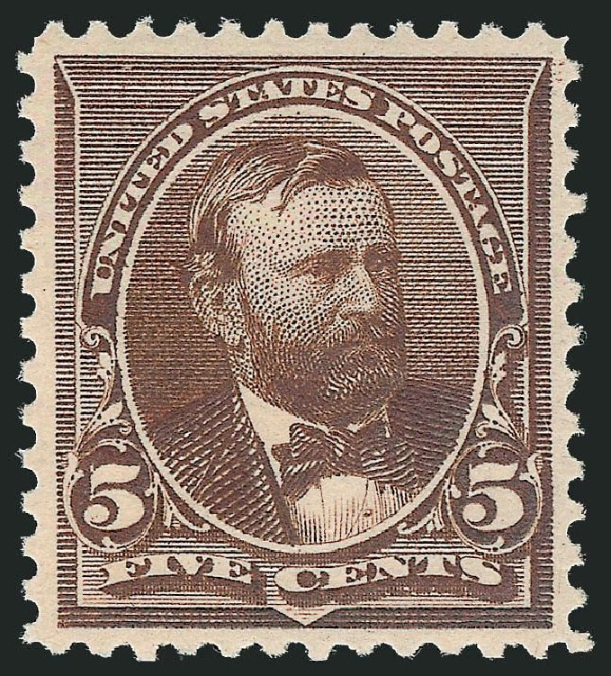 US Stamp Price Scott Catalogue # 223: 1890 5c Grant. Robert Siegel Auction Galleries, Nov 2013, Sale 1061, Lot 3650