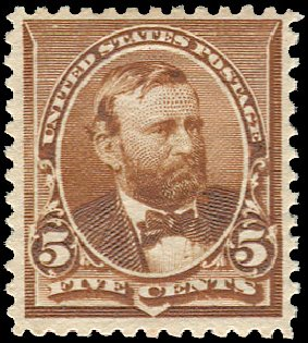 Value of US Stamp Scott #223 - 1890 5c Grant. Regency-Superior, Jan 2015, Sale 109, Lot 871