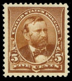 Costs of US Stamp Scott Catalog # 223: 5c 1890 Grant. Daniel Kelleher Auctions, Sep 2013, Sale 639, Lot 3305