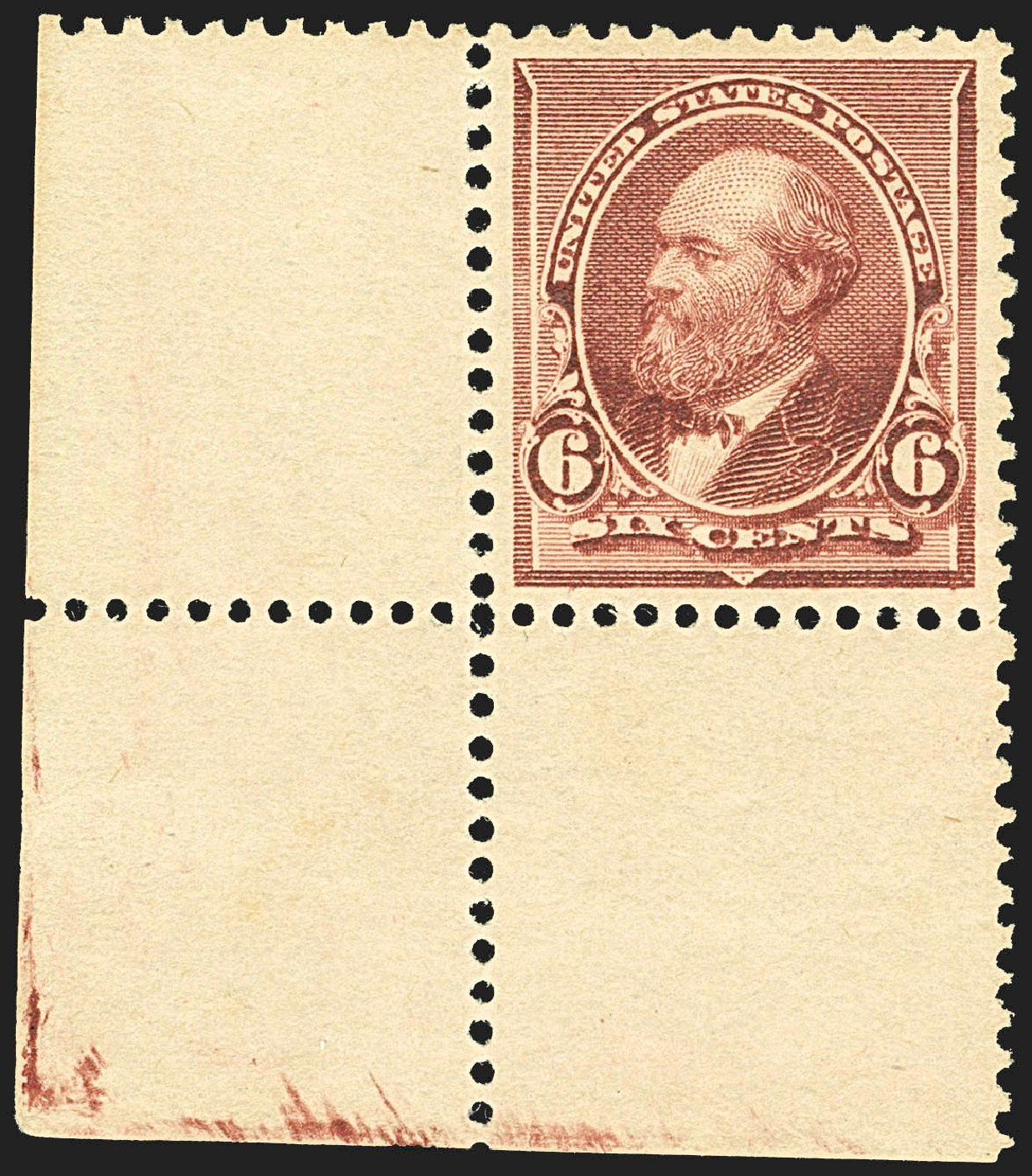 Costs of US Stamps Scott Cat. 224 - 6c 1890 Garfield. Robert Siegel Auction Galleries, Jul 2015, Sale 1107, Lot 297