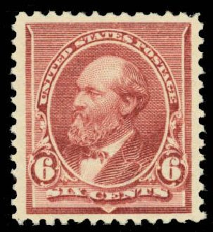 US Stamp Prices Scott Catalogue #224 - 6c 1890 Garfield. Daniel Kelleher Auctions, Oct 2014, Sale 660, Lot 2198