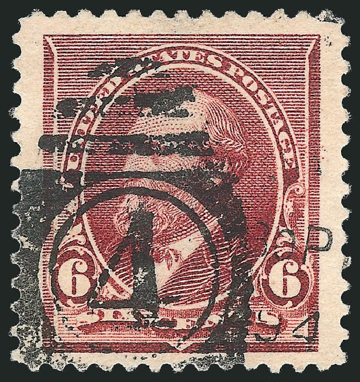 Cost of US Stamp Scott Catalogue # 224 - 1890 6c Garfield. Robert Siegel Auction Galleries, Nov 2014, Sale 1084, Lot 3508