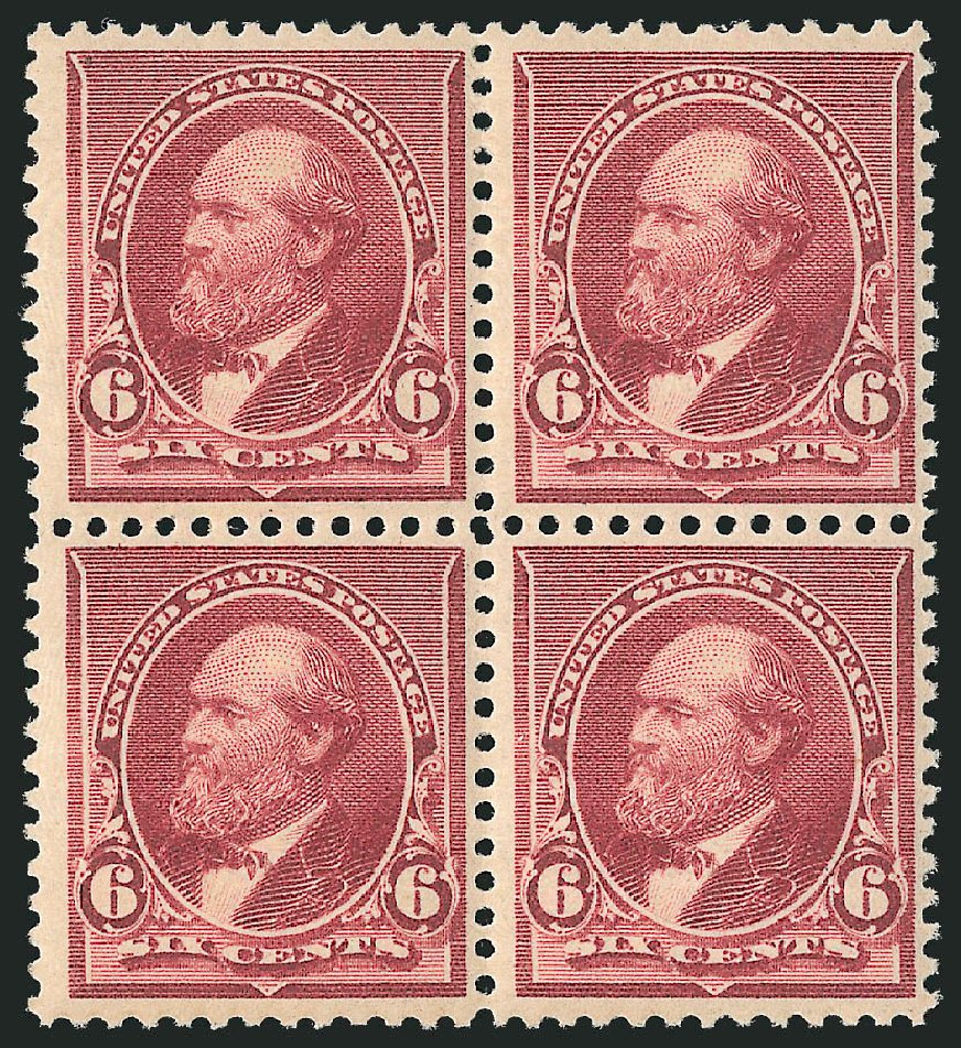 US Stamp Price Scott Catalogue #224 - 1890 6c Garfield. Robert Siegel Auction Galleries, Apr 2015, Sale 1096, Lot 388