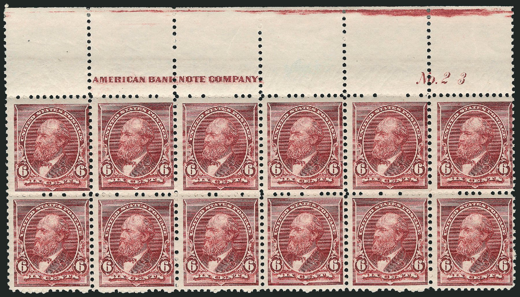 US Stamps Price Scott Cat. #224: 6c 1890 Garfield. Robert Siegel Auction Galleries, Apr 2015, Sale 1096, Lot 389