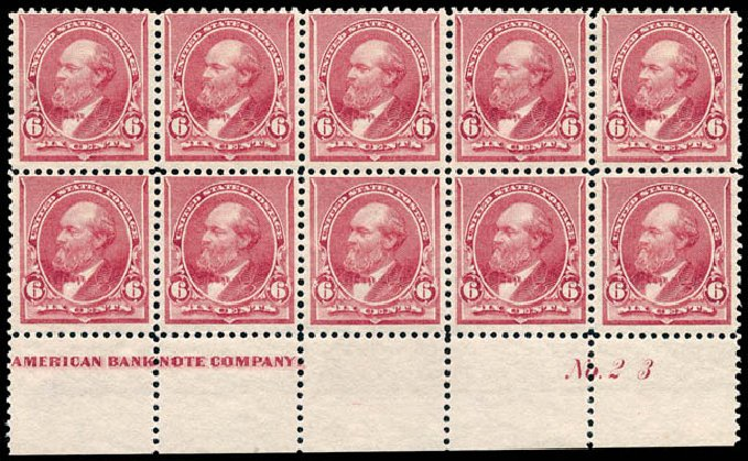 Price of US Stamps Scott Cat. # 224 - 1890 6c Garfield. Schuyler J. Rumsey Philatelic Auctions, Apr 2015, Sale 60, Lot 2870