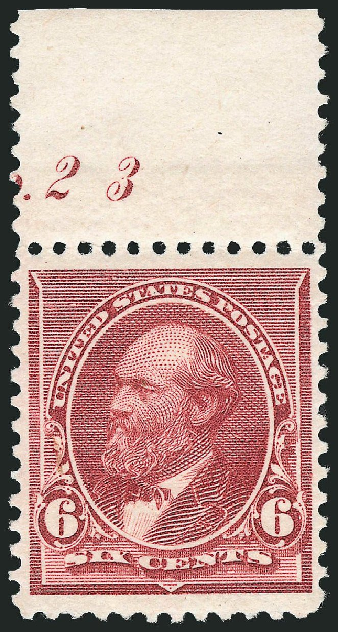 Cost of US Stamp Scott Cat. #224 - 6c 1890 Garfield. Robert Siegel Auction Galleries, Dec 2014, Sale 1090, Lot 1375