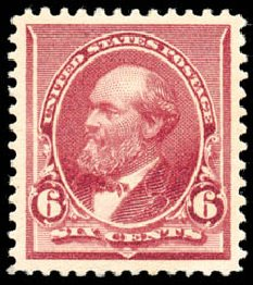 Cost of US Stamps Scott Cat. # 224 - 1890 6c Garfield. Schuyler J. Rumsey Philatelic Auctions, Apr 2015, Sale 60, Lot 2202
