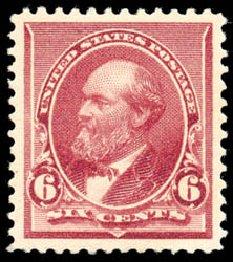 Cost of US Stamps Scott Cat. # 224 - 1890 6c Garfield. Schuyler J. Rumsey Philatelic Auctions, Apr 2015, Sale 60, Lot 2202