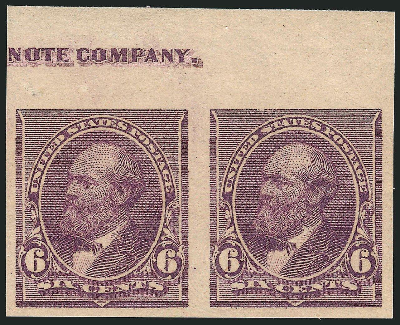 US Stamp Prices Scott Cat. 224 - 1890 6c Garfield. Robert Siegel Auction Galleries, Feb 2015, Sale 1092, Lot 1162