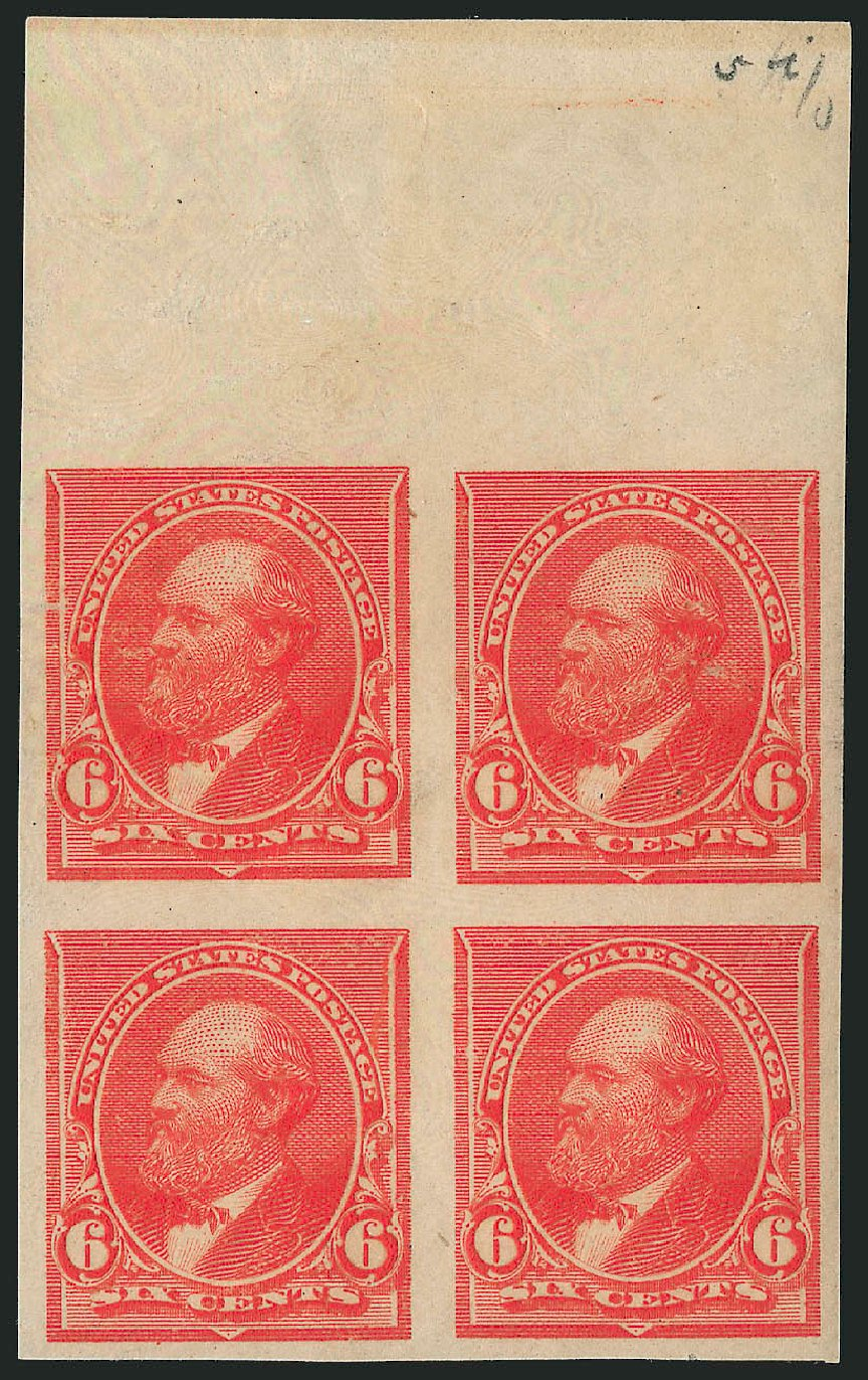 Cost of US Stamps Scott Catalog 224 - 1890 6c Garfield. Robert Siegel Auction Galleries, Feb 2015, Sale 1092, Lot 1163