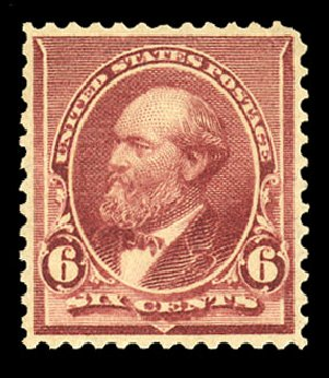 Price of US Stamps Scott Catalogue # 224: 1890 6c Garfield. Cherrystone Auctions, Nov 2014, Sale 201411, Lot 46