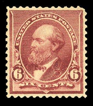 Price of US Stamps Scott Catalogue # 224: 1890 6c Garfield. Cherrystone Auctions, Nov 2014, Sale 201411, Lot 46