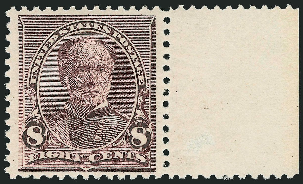 US Stamp Price Scott Catalogue #225: 8c 1890 Sherman. Robert Siegel Auction Galleries, Sep 2014, Sale 1078, Lot 338