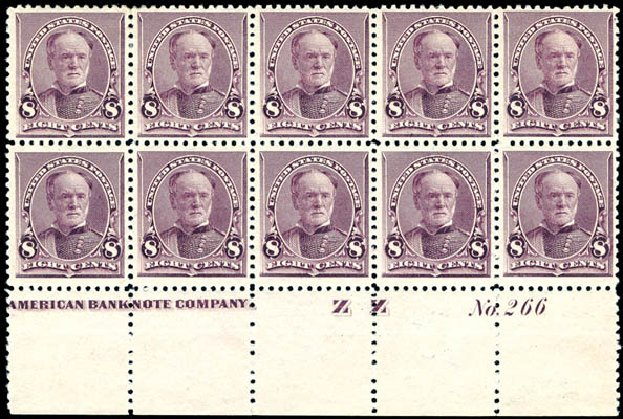 Costs of US Stamps Scott Catalog #225: 8c 1890 Sherman. Schuyler J. Rumsey Philatelic Auctions, Apr 2015, Sale 60, Lot 2871