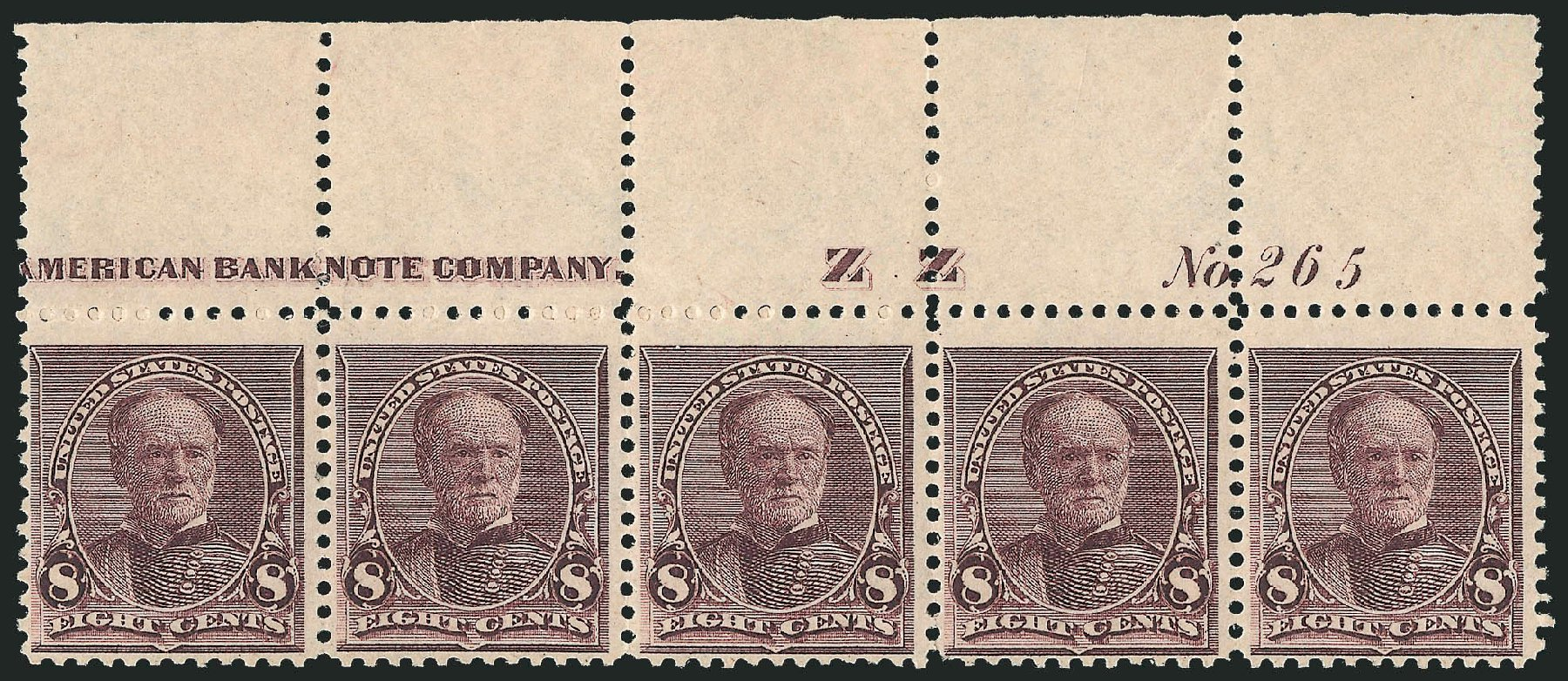 Value of US Stamp Scott Catalog # 225 - 1890 8c Sherman. Robert Siegel Auction Galleries, Oct 2014, Sale 1082, Lot 401