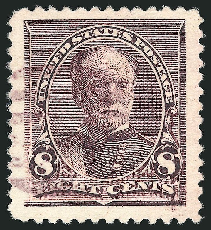 Prices of US Stamps Scott Catalog #225: 1890 8c Sherman. Robert Siegel Auction Galleries, Nov 2014, Sale 1084, Lot 3511