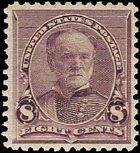 Values of US Stamps Scott Cat. 225: 1890 8c Sherman. Regency-Superior, Nov 2014, Sale 108, Lot 414