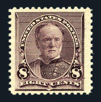 Value of US Stamp Scott Cat. # 225 - 1890 8c Sherman. Harmer-Schau Auction Galleries, Aug 2015, Sale 106, Lot 1615