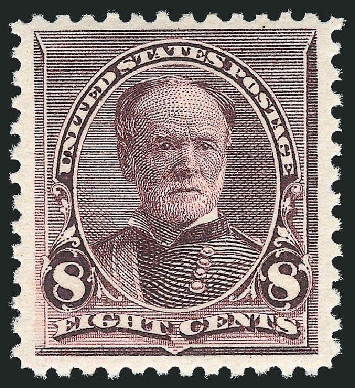 US Stamp Price Scott Catalogue # 225 - 8c 1890 Sherman. Robert Siegel Auction Galleries, Dec 2012, Sale 1037, Lot 1785