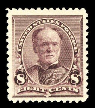 Cost of US Stamp Scott # 225: 8c 1890 Sherman. Cherrystone Auctions, Jul 2013, Sale 201307, Lot 72