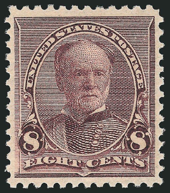 Prices of US Stamps Scott Catalog #225 - 8c 1890 Sherman. Robert Siegel Auction Galleries, Dec 2012, Sale 1037, Lot 1786