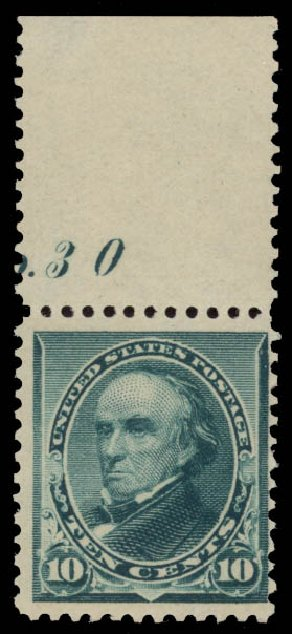 Price of US Stamps Scott 226: 10c 1890 Webster. Daniel Kelleher Auctions, May 2015, Sale 669, Lot 2707