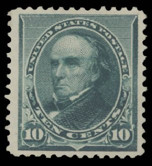 Costs of US Stamps Scott Cat. # 226: 10c 1890 Webster. Daniel Kelleher Auctions, Aug 2015, Sale 672, Lot 2467