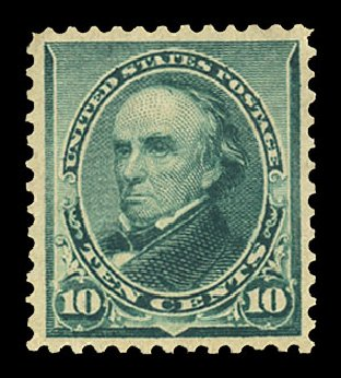 Value of US Stamp Scott #226: 1890 10c Webster. Cherrystone Auctions, Nov 2014, Sale 201411, Lot 48