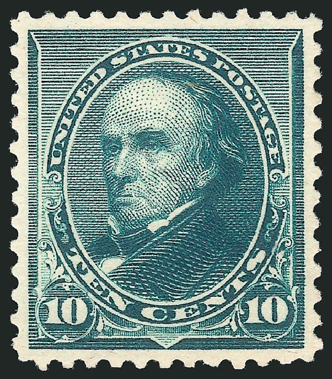Prices of US Stamps Scott Cat. # 226 - 1890 10c Webster. Robert Siegel Auction Galleries, Jun 2015, Sale 1106, Lot 3130