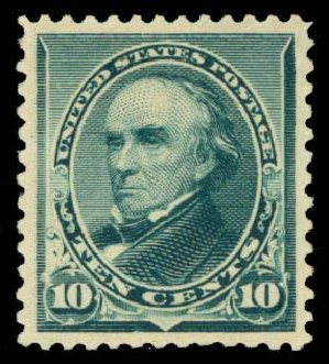 US Stamp Price Scott #226 - 10c 1890 Webster. Daniel Kelleher Auctions, Oct 2014, Sale 660, Lot 2201
