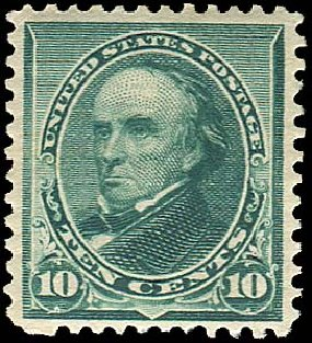 Values of US Stamps Scott Cat. # 226 - 10c 1890 Webster. Regency-Superior, Jan 2015, Sale 109, Lot 874