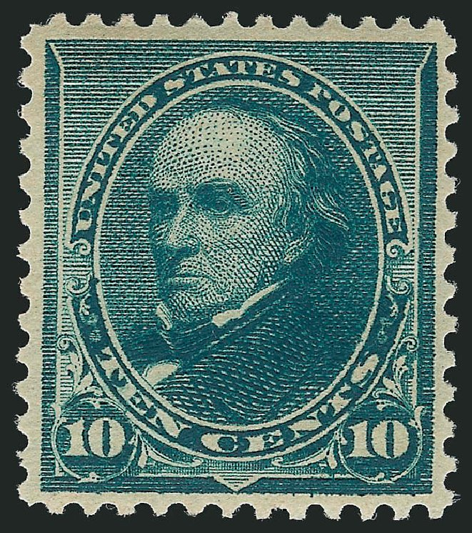 Value of US Stamp Scott #226 - 10c 1890 Webster. Robert Siegel Auction Galleries, Feb 2015, Sale 1092, Lot 1164