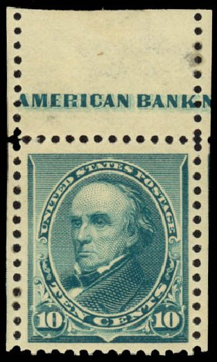 Values of US Stamps Scott Cat. 226 - 10c 1890 Webster. Daniel Kelleher Auctions, Jan 2015, Sale 663, Lot 1443