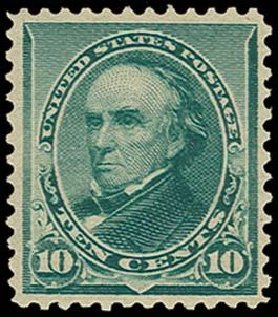 US Stamps Prices Scott Catalog # 226: 10c 1890 Webster. H.R. Harmer, Oct 2014, Sale 3006, Lot 1246