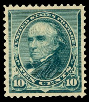Value of US Stamp Scott Catalogue #226 - 10c 1890 Webster. Daniel Kelleher Auctions, May 2015, Sale 669, Lot 2706