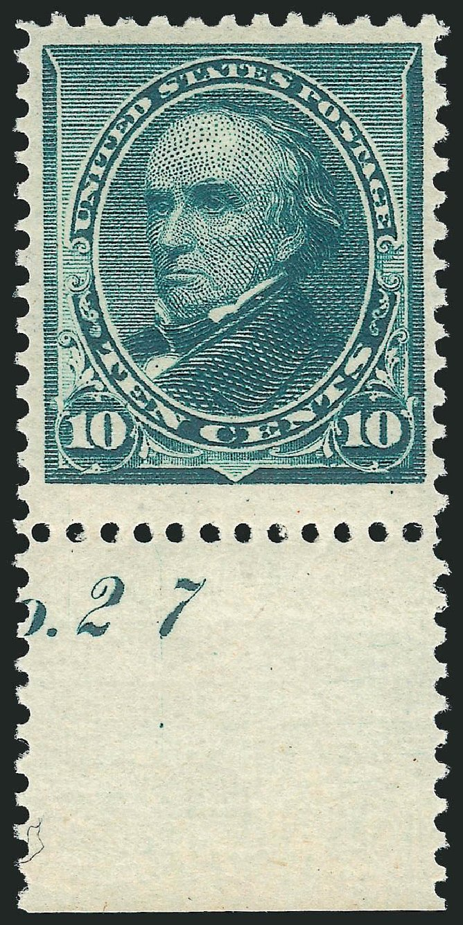 US Stamps Value Scott Catalog 226: 1890 10c Webster. Robert Siegel Auction Galleries, Dec 2014, Sale 1090, Lot 1376