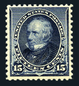 US Stamps Values Scott Catalogue 227: 15c 1890 Clay. Harmer-Schau Auction Galleries, Aug 2015, Sale 106, Lot 1617