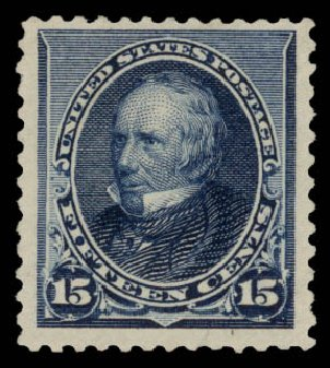 Costs of US Stamp Scott # 227 - 1890 15c Clay. Daniel Kelleher Auctions, May 2015, Sale 669, Lot 2708