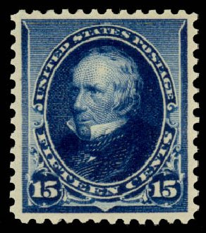 Cost of US Stamps Scott Catalogue # 227 - 15c 1890 Clay. Daniel Kelleher Auctions, Aug 2015, Sale 672, Lot 2469