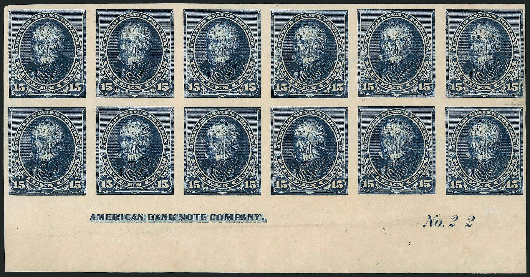Costs of US Stamp Scott # 227 - 15c 1890 Clay. Robert Siegel Auction Galleries, Apr 2015, Sale 1096, Lot 400