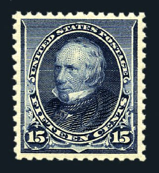 US Stamp Price Scott Catalogue #227 - 15c 1890 Clay. Harmer-Schau Auction Galleries, Aug 2015, Sale 106, Lot 1616