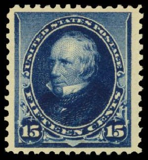 US Stamp Values Scott Catalog # 227: 1890 15c Clay. Daniel Kelleher Auctions, Dec 2014, Sale 661, Lot 196