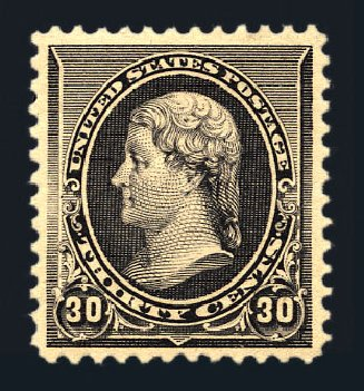 Costs of US Stamps Scott # 228: 30c 1890 Jefferson. Harmer-Schau Auction Galleries, Aug 2015, Sale 106, Lot 1618