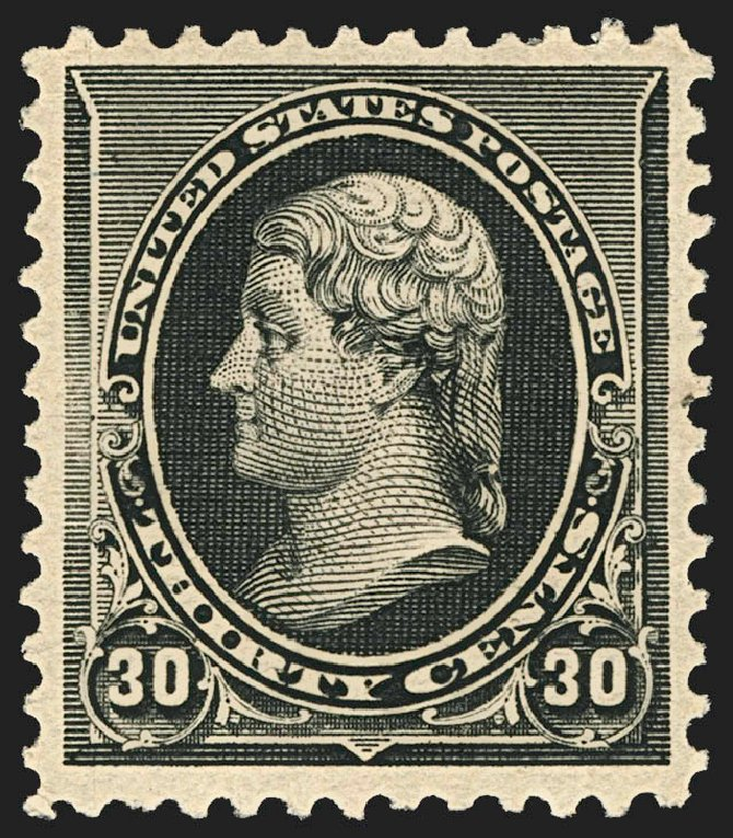 Value of US Stamp Scott Cat. # 228: 30c 1890 Jefferson. Robert Siegel Auction Galleries, Jul 2015, Sale 1107, Lot 299