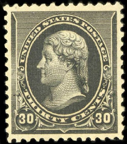 Costs of US Stamp Scott Catalog 228 - 30c 1890 Jefferson. Spink Shreves Galleries, Jul 2015, Sale 151, Lot 180