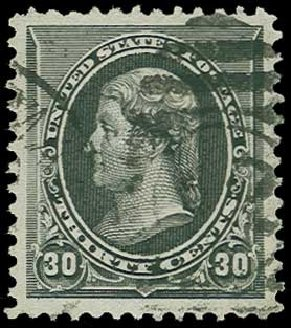 Value of US Stamps Scott Catalog 228: 1890 30c Jefferson. H.R. Harmer, Jun 2015, Sale 3007, Lot 3235