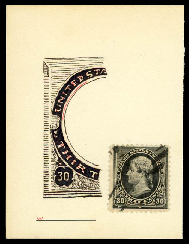 Values of US Stamps Scott Cat. # 228: 30c 1890 Jefferson. Daniel Kelleher Auctions, May 2015, Sale 669, Lot 2712
